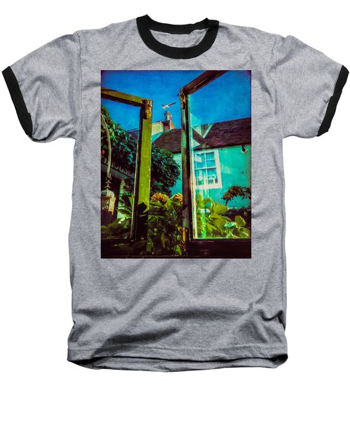 Baseball T-Shirt featuring the photograph The Open Window by Chris Lord
