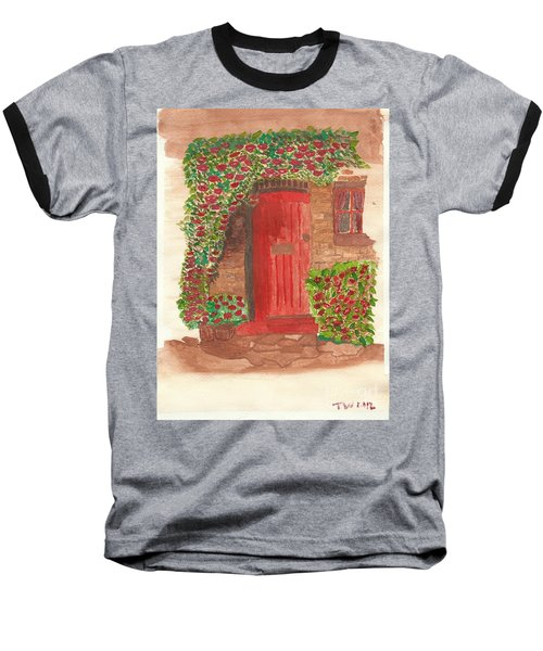 The Orange Door Baseball T-Shirt by Tracey Williams