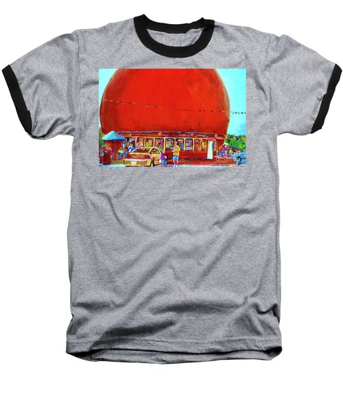 The Orange Julep Montreal Summer City Scene Baseball T-Shirt