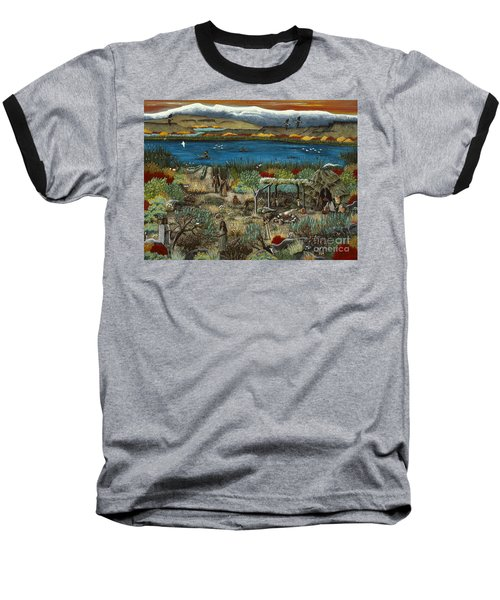 Baseball T-Shirt featuring the painting The Oregon Paiute by Jennifer Lake