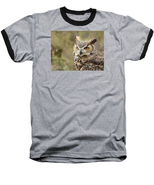 Baseball T-Shirt featuring the photograph The Owl by Lucinda Walter