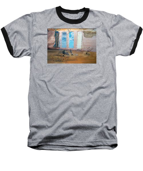 The Parade Of The Moods Baseball T-Shirt by Lazaro Hurtado