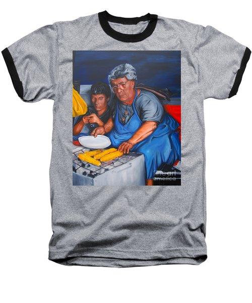 The Parga Corn Seller Baseball T-Shirt