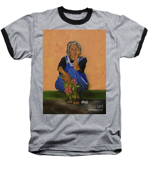The Parga Flower Seller Baseball T-Shirt