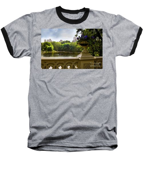 The Park On A Sunday Afternoon Baseball T-Shirt by Madeline Ellis