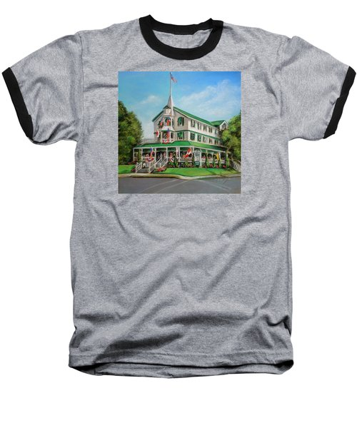 Baseball T-Shirt featuring the painting The Parker House by Melinda Saminski