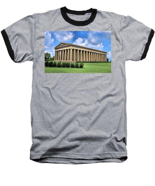 The Parthenon Baseball T-Shirt by Kristin Elmquist