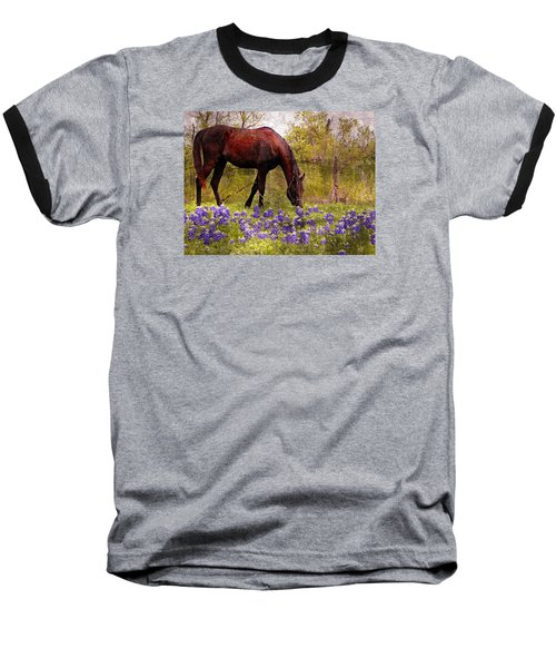 Baseball T-Shirt featuring the photograph The Pasture by Kathy Churchman