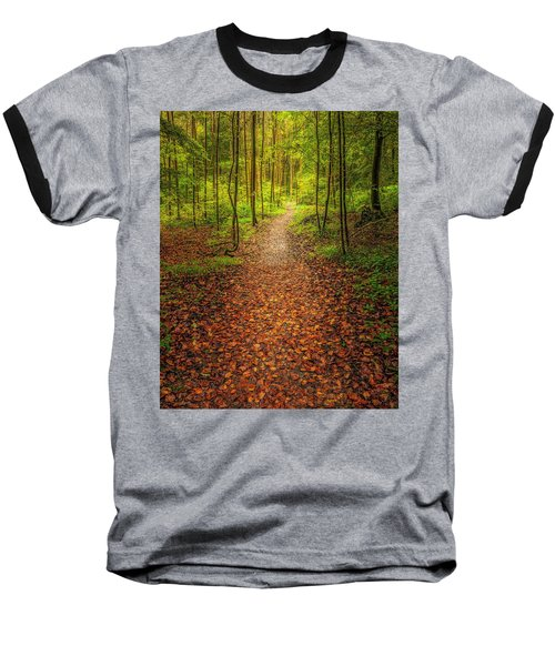 Baseball T-Shirt featuring the photograph The Path by Maciej Markiewicz