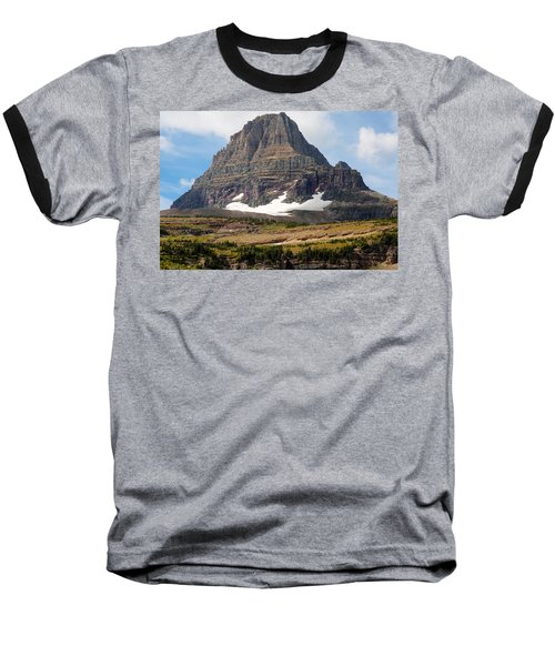 Baseball T-Shirt featuring the photograph The Peak At Logans Pass by John M Bailey