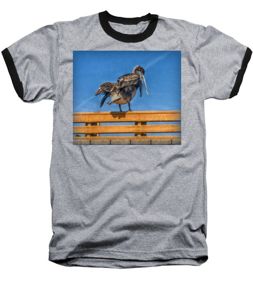 Baseball T-Shirt featuring the photograph The Pelican by Hanny Heim
