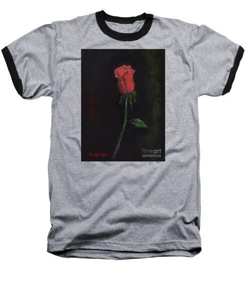 The Perfect Rose Baseball T-Shirt by Becky Lupe