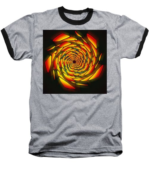 Baseball T-Shirt featuring the drawing The Phi Stargate by Derek Gedney