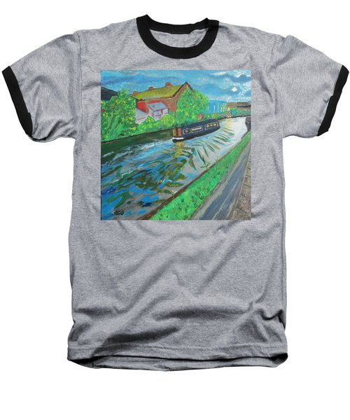 Baseball T-Shirt featuring the painting The Pickle - Grand Union Canal by Mudiama Kammoh