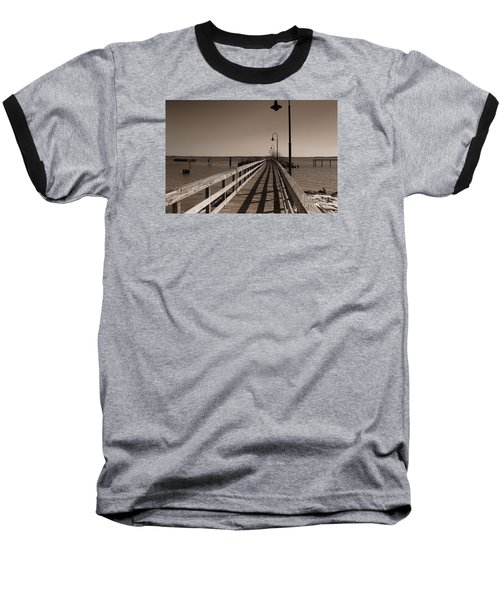Baseball T-Shirt featuring the photograph The Pier by David Jackson
