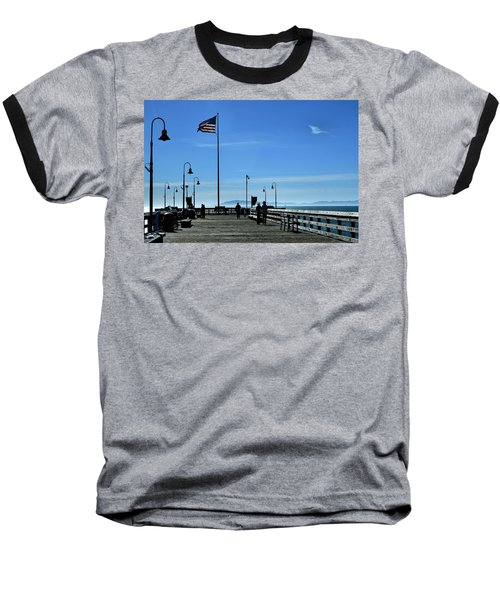 Baseball T-Shirt featuring the photograph The Pier by Michael Gordon