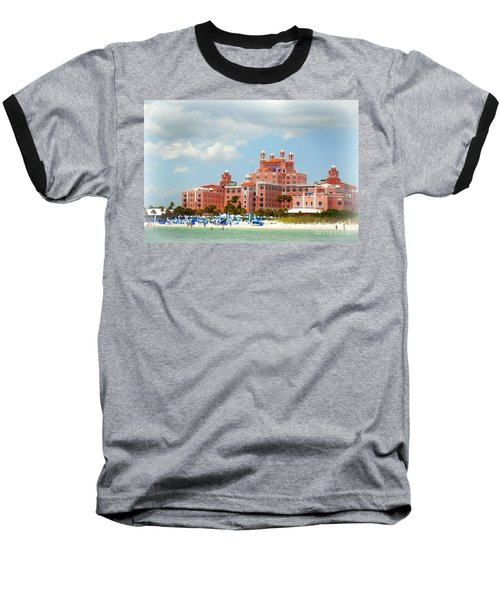 The Pink Palace Baseball T-Shirt by Valerie Reeves