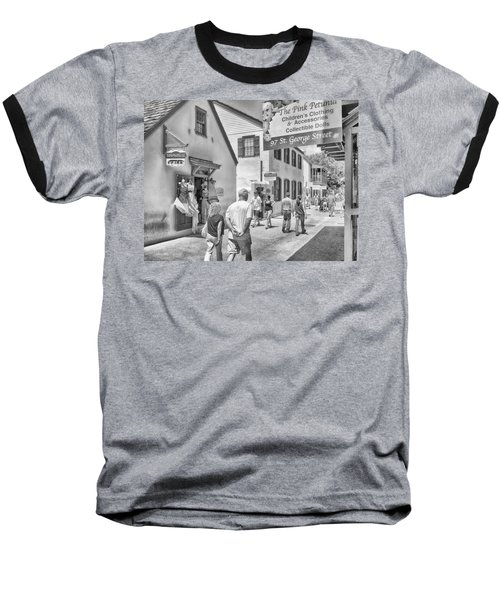 Baseball T-Shirt featuring the photograph The Pink Petunia by Howard Salmon