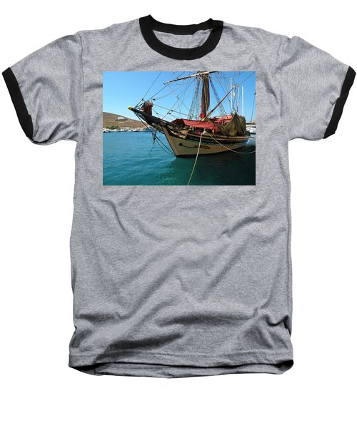 Baseball T-Shirt featuring the photograph The Pirate Ship  by Micki Findlay