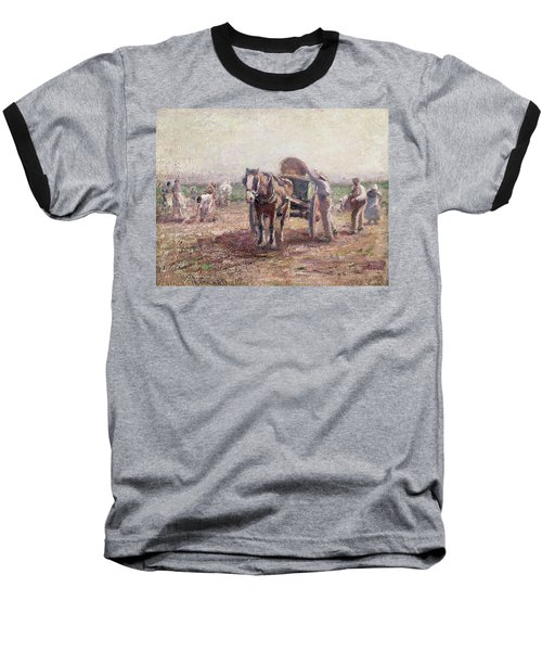 The Potato Pickers Baseball T-Shirt by Harry Fidler