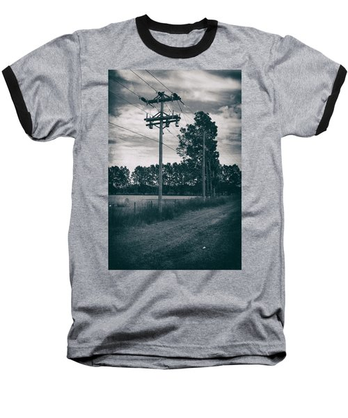 Baseball T-Shirt featuring the photograph The Power Lines  by Howard Salmon