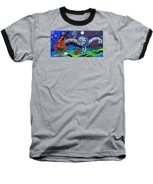 The Power Of Music Baseball T-Shirt by Genevieve Esson