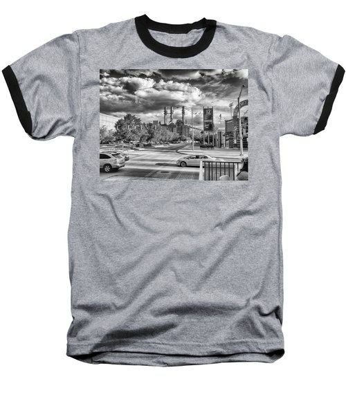 Baseball T-Shirt featuring the photograph The Power Station by Howard Salmon