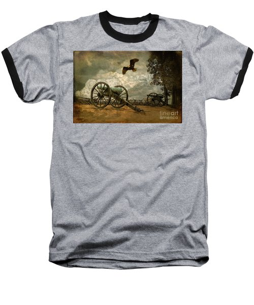 The Price Of Freedom Baseball T-Shirt by Lois Bryan