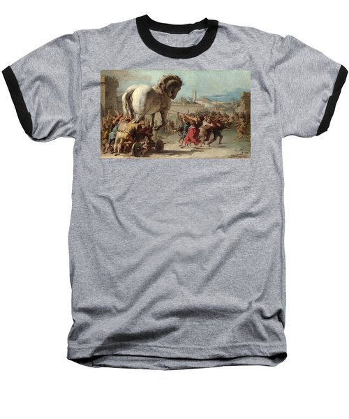 The Procession Of The Trojan Horse Into Troy Baseball T-Shirt