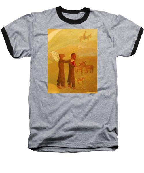 The Rabbi Leading The Angel Baseball T-Shirt