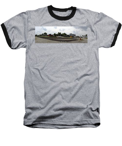 Baseball T-Shirt featuring the photograph The Railroad From The Series View Of An Old Railroad by Verana Stark