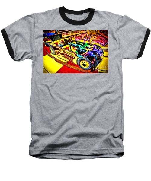 The Real Batmobile Baseball T-Shirt by Olivier Le Queinec