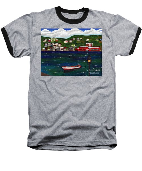 The Red And White Fishing Boat Carenage Grenada Baseball T-Shirt