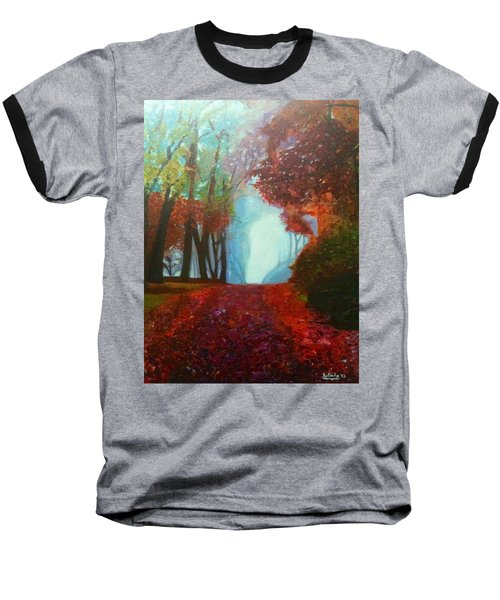 The Red Cathedral - A Journey Of Peace And Serenity Baseball T-Shirt by Belinda Low