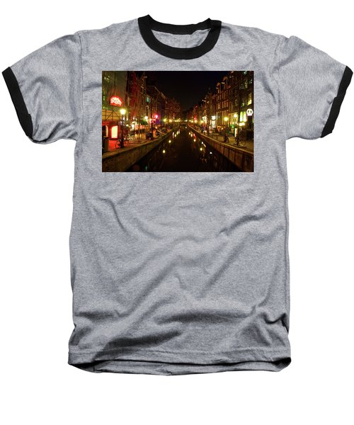 The Red Lights Of Amsterdam Baseball T-Shirt