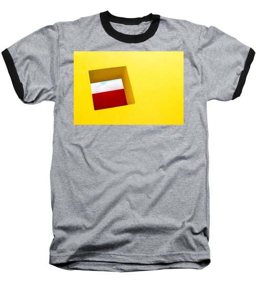 the Red Rectangle Baseball T-Shirt