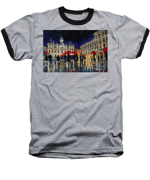 The Rendezvous Of Terreaux Square In Lyon Baseball T-Shirt