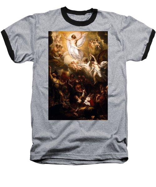 The Resurrection Baseball T-Shirt by Munir Alawi