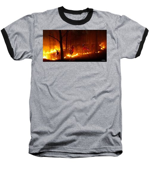 The Ring Of Fire Baseball T-Shirt by Bill Stephens