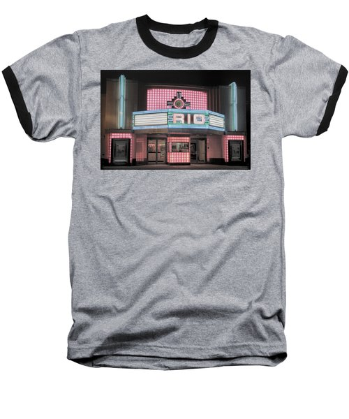 The Rio At Night Baseball T-Shirt