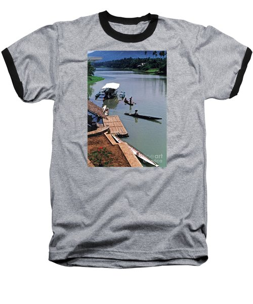 The River Leading To Pagsanjan Falls In The Philippines Baseball T-Shirt by Jim Fitzpatrick