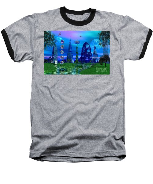 Baseball T-Shirt featuring the photograph The River Quinque by Mark Blauhoefer