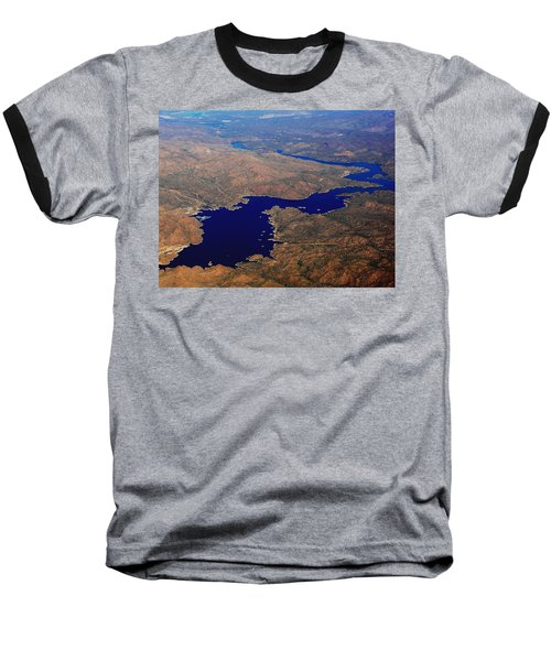Baseball T-Shirt featuring the photograph The River Winds by Natalie Ortiz
