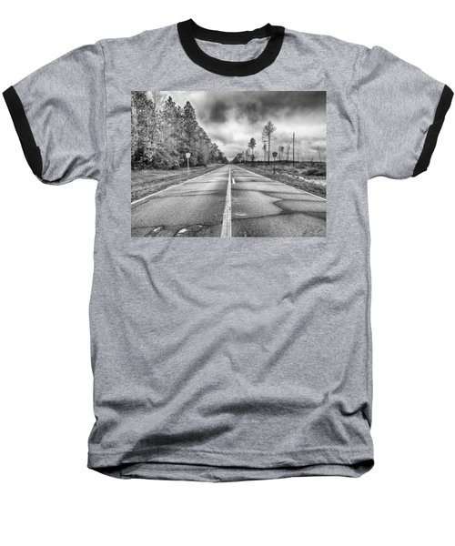 Baseball T-Shirt featuring the photograph The Road Less Traveled by Howard Salmon