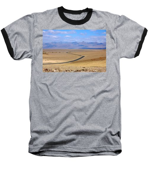 Baseball T-Shirt featuring the photograph The Road by Stuart Litoff