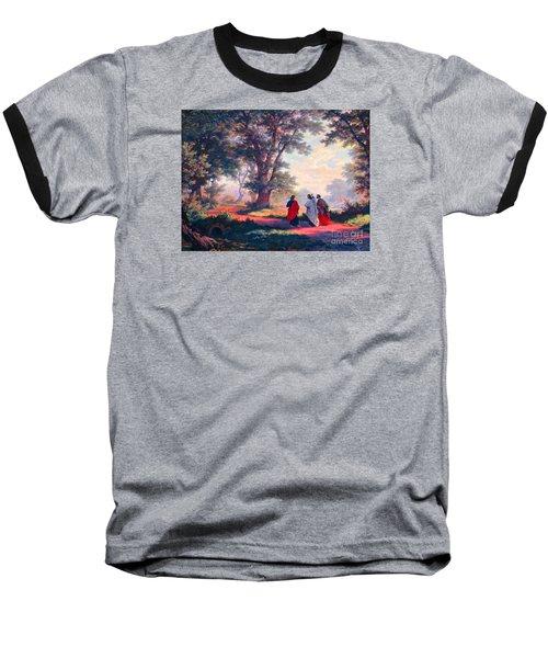 The Road To Emmaus Baseball T-Shirt by Tina M Wenger