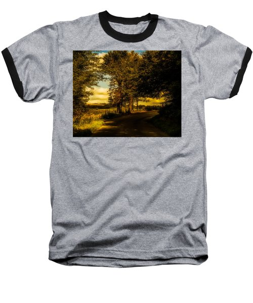 Baseball T-Shirt featuring the photograph The Road To Litlington by Chris Lord