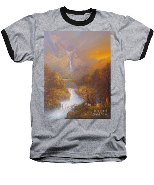 The Road To Rivendell The Lord Of The Rings Tolkien Inspired Art  Baseball T-Shirt by Joe  Gilronan