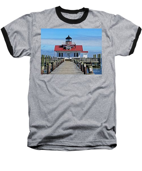 The Roanoke Marshes Lighthouse  Baseball T-Shirt