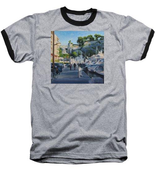 The Rock Ahead Baseball T-Shirt by Connie Schaertl